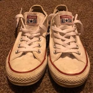 White Converse Women's 7.5